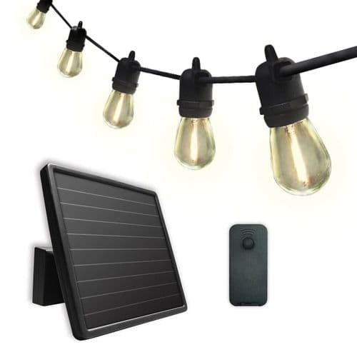 SUNFORCE String Lights 15 LED Bulbs Solar Powered Battery with Remote Control